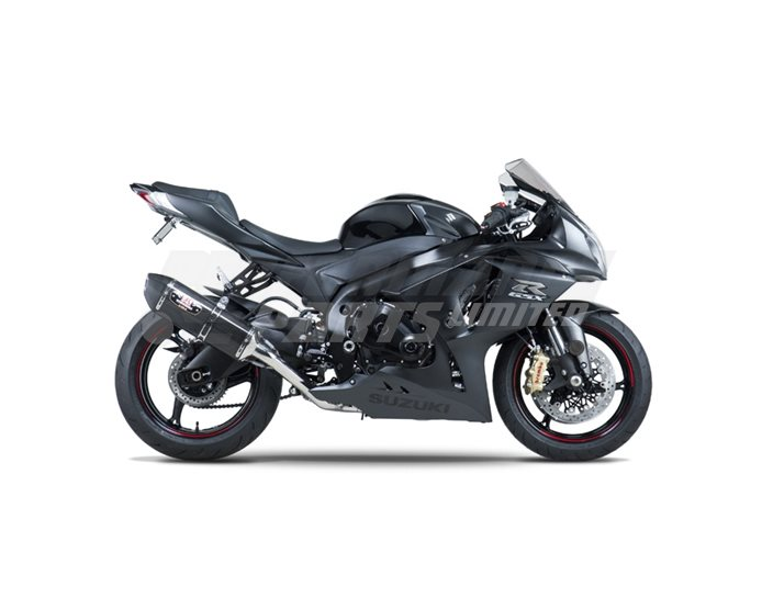 Yoshimura Carbon R77 Silencer Full System (4-2-1) - Stainless Header Carbon Coned End Cap - Race (removable Baffle)