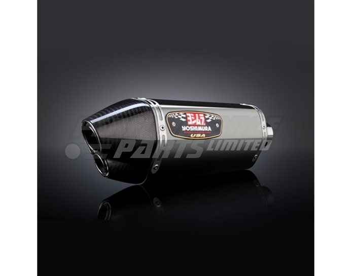Yoshimura Stainless R77D Silencer Full System (4-2-1) - Stainless Header Carbon Dual-exit Coned End Cap - Race