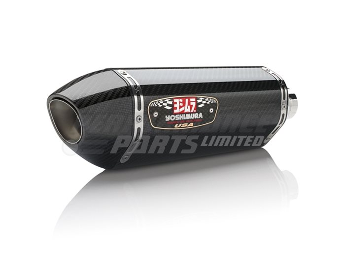 Yoshimura Carbon R77 Slip-On Carbon End Cap (cannot be fitted with Honda optional centre stand) - Race (removable Baffle)
