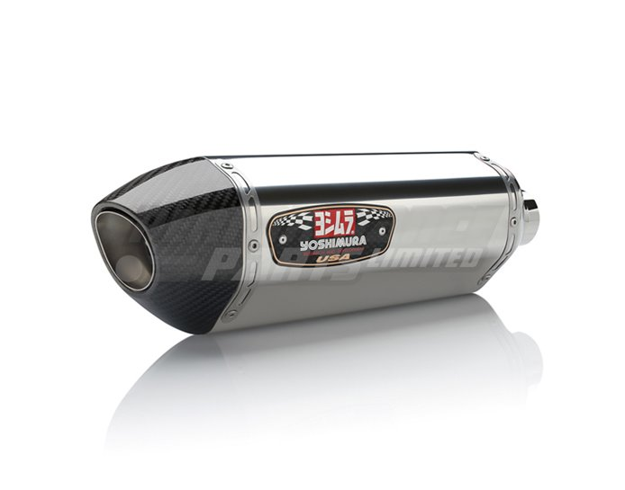 Yoshimura Stainless R77 Full System Carbon End Cap RACE