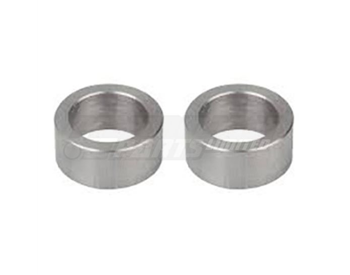 127UN015SI - LSL Handlebar Clamps Spacer Blocks,  Silver (black or silver available) - 15 or 25mm heights available, set of 2