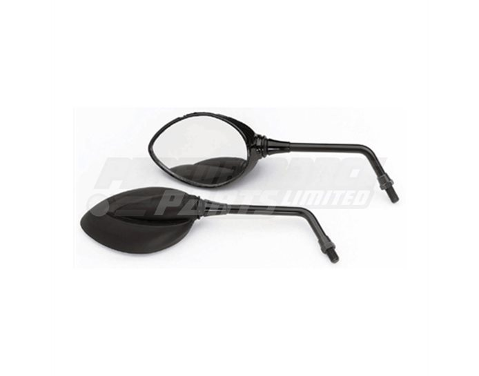 LSL Flame Superbike Mirror, black - single mirror