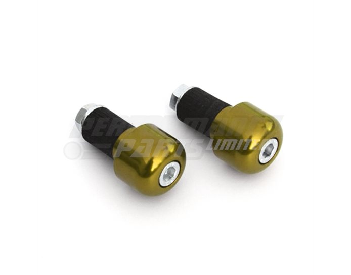 LSL Cylindrical bar end weights, pair, Aluminium, Gold (other colours available) - for 22.2mm  steel and 1 inch aluminium bars