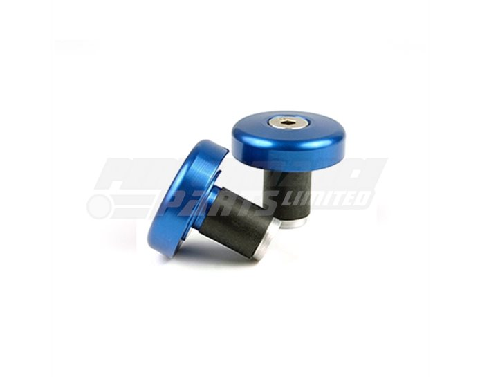 135-005BL - LSL Flat cap bar end weights, pair, Aluminium, Transparent Blue (other colours available) - for X-Bar (28.6mm) and 22.2mm aluminium bars
