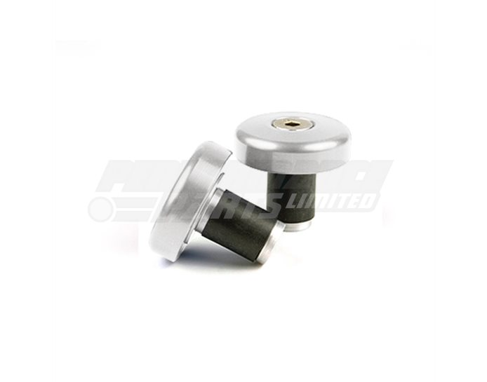 LSL Flat cap bar end weights, pair, Aluminium, Silver (other colours available) - for X-Bar (28.6mm) and 22.2mm aluminium bars