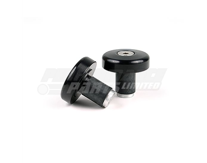 LSL Flat cap bar end weights, pair, Aluminium, Black (other colours available) - for X-Bar (28.6mm) and 22.2mm aluminium bars