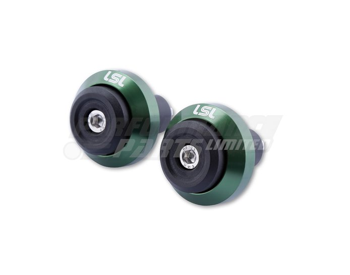 LSL Gonia Bar End Weight Aluminium, pair, Green (other colours available) - for X-Bar (28.6mm) and 22.2mm aluminium bars