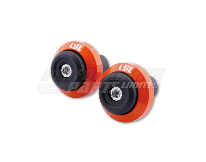 LSL Gonia Bar End Weight Aluminium, pair, Orange (other colours available) - for X-Bar (28.6mm) and 22.2mm aluminium bars