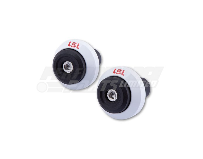 LSL Gonia Bar End Weight Aluminium, pair, White (other colours available) - for X-Bar (28.6mm) and 22.2mm aluminium bars