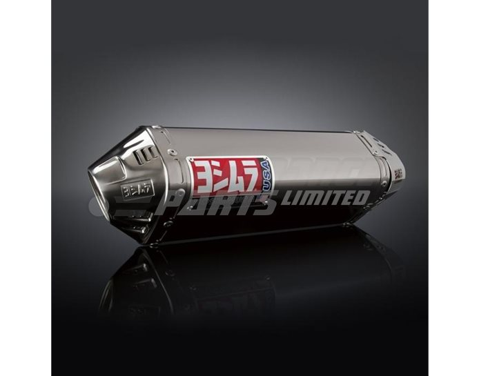 Yoshimura Stainless TRC Slip-On - Stainless End Cap - Race (Removable Baffle)