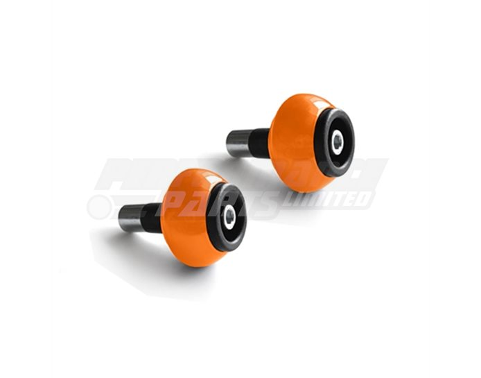 LSL Bar End crash balls Aluminium, pair, Orange (other colours available) - for X-Bar (28.6mm) and 22.2mm aluminium bars