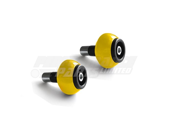 LSL Bar End crash balls Aluminium, pair, Yellow (other colours available) - for 22.2mm  steel and 1 inch aluminium bars