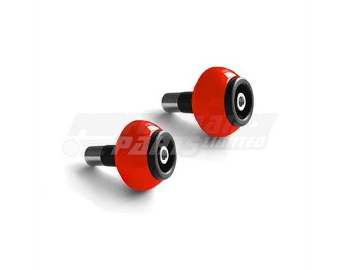 LSL Classic Bar End crash balls Aluminium, pair, Signal Red (other colours available) - for 22.2mm  steel and 1 inch aluminium bars