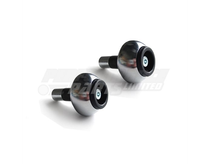 136VA18 - LSL Classic Bar End crash balls Stainless Steel, pair - for 22.2mm  steel and 1 inch aluminium bars