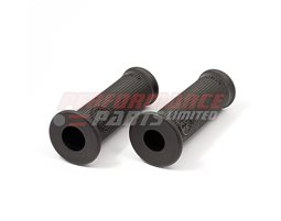 138CL02 - LSL Clubman Classic Grips, Black Rubber - fit most bars with 22.2mm diameter at grip.