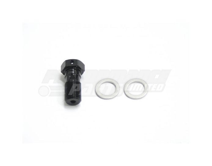 Galespeed Single Banjo Bolt - Black Anodised Aluminium - M10xP1.00mm (For use with Galespeed Master Cylinders)