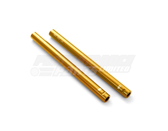 154L01GO - LSL Clip On Handlebar Tubes, Aluminium, 22.2mm, Gold - fits with  conversion kit