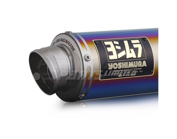 Yoshimura Japan GP-Magnum Full System With Titanium Blue Silencer (Removable Baffle) - Race