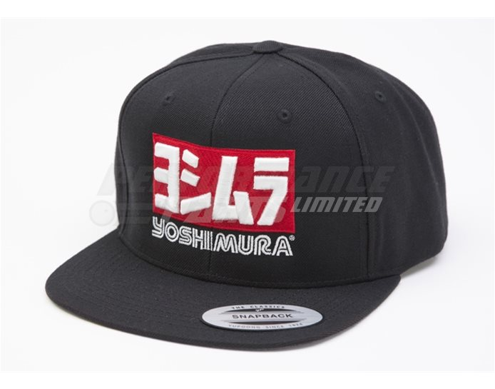 192055 - Yoshimura Logo Snapback Cap Logo Black