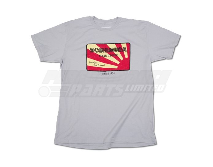 192068-S - Yoshimura Speed T-Shirt - Silver - Small (select size below)