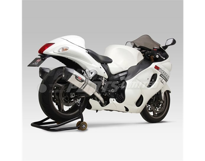 Yoshimura Stainless Hepta Force Slip On Kit (pair) With Carbon Coned End Cap - Yoshimura Japan - Road-Legal (Removable Baffle)
