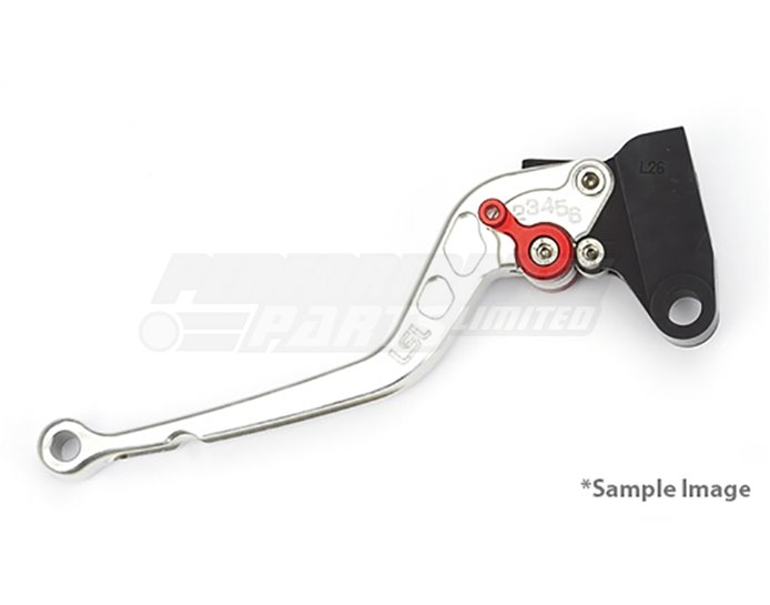 LSL Classic Clutch Lever, Long, Silver - Red Adjuster