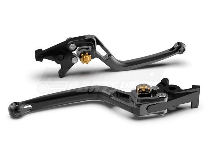 LSL Bow Brake Lever, Short, Black - Gold Adjuster