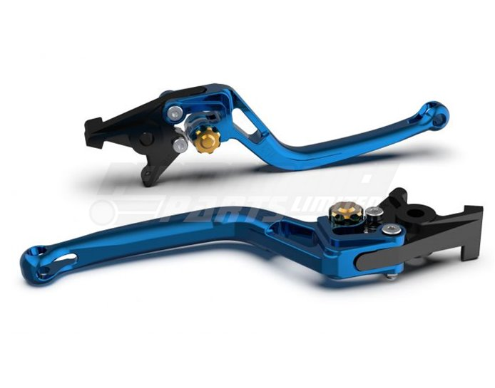 LSL Bow Brake Lever, Short, Transparent Blue - Gold Adjuster