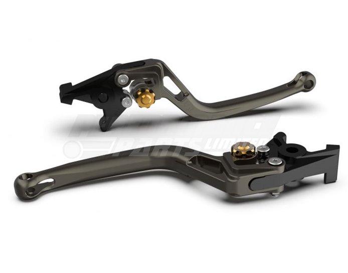 LSL Bow Brake Lever, Short, Anthracite - Gold Adjuster