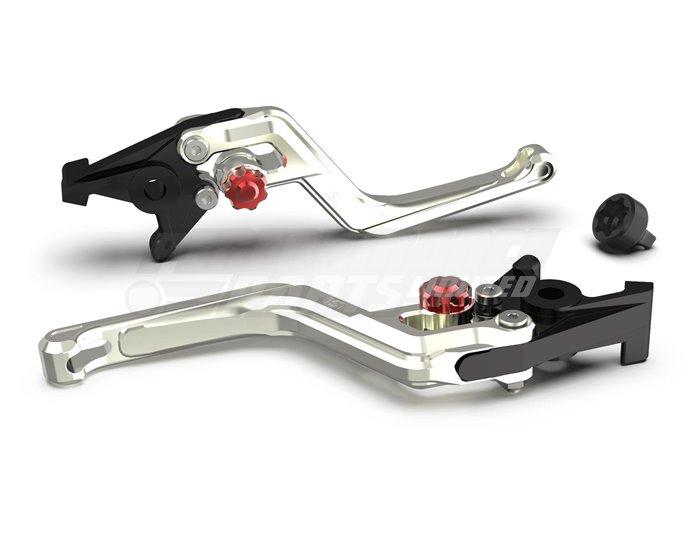 LSL Ergonia Silver Clutch Lever - Red adjuster, Silver slider