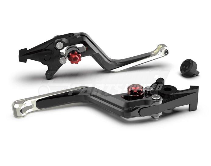 LSL Ergonia Black Clutch Lever - Red adjuster, Silver slider