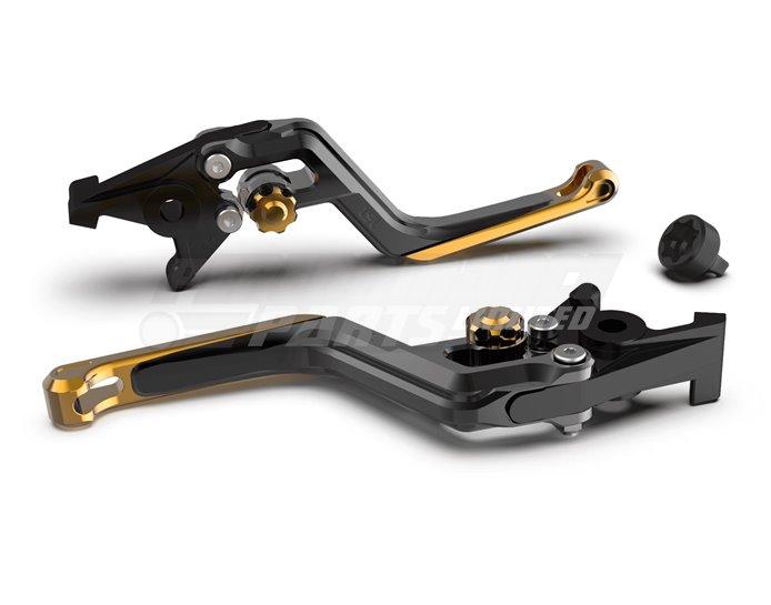 LSL Ergonia Black Clutch Lever - Gold adjuster, Gold slider