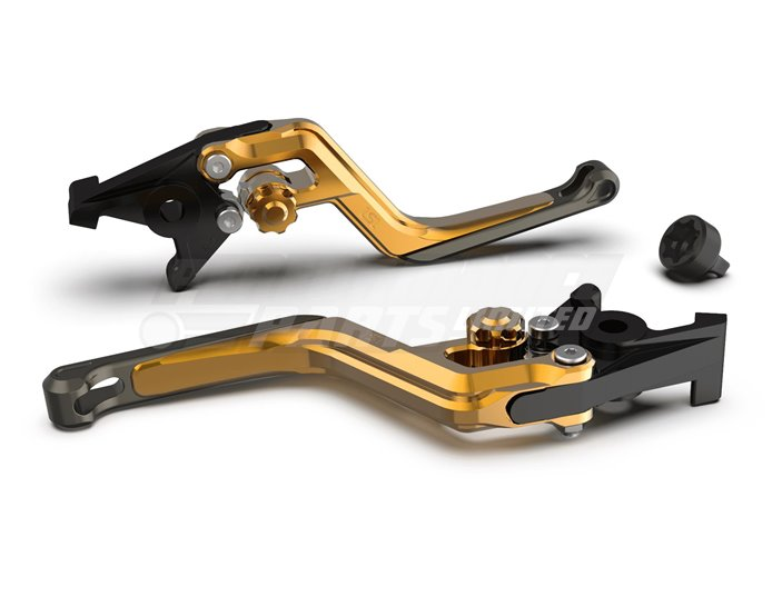 LSL Ergonia Clutch Lever, Gold - Gold adjuster, Anthracite slider