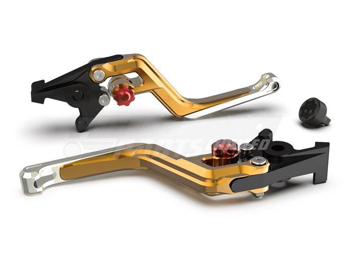 LSL Ergonia Gold Clutch Lever - Red adjuster, Silver slider