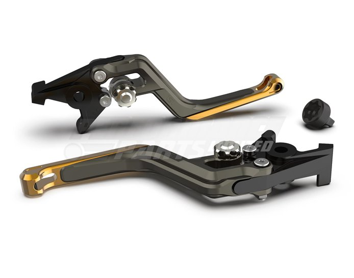LSL Ergonia Brake Lever, Anthracite - Silver adjuster, Gold slider