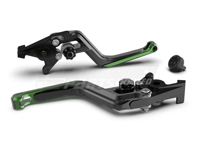 LSL Ergonia Black Brake Lever - Black adjuster, Green slider