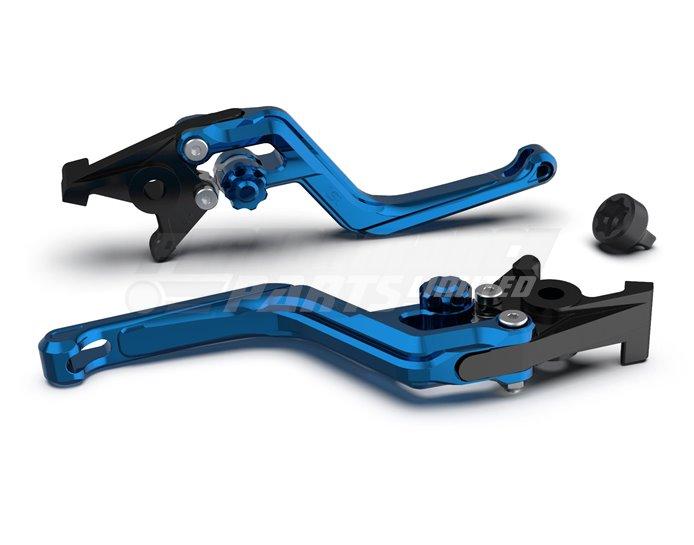 LSL Ergonia Brake Lever, Blue - Blue adjuster, Transparent Blue slider
