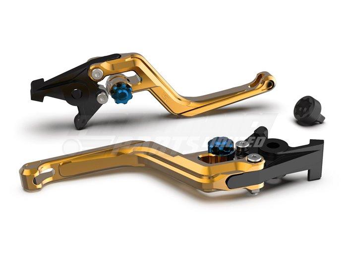 LSL Ergonia Gold Brake Lever - Blue adjuster, Gold slider