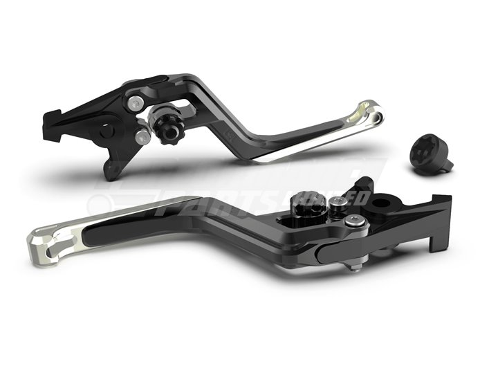 LSL Ergonia Black Brake Lever - Black adjuster, Silver slider