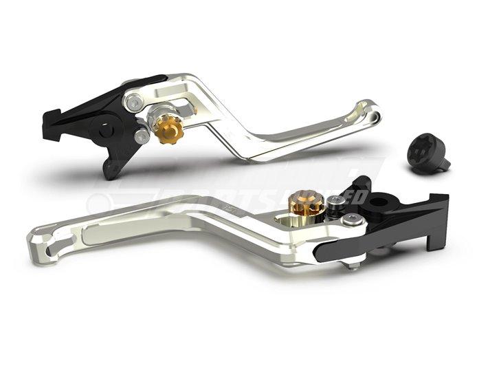 LSL Ergonia Silver Brake Lever, Silver - Gold adjuster, Silver slider