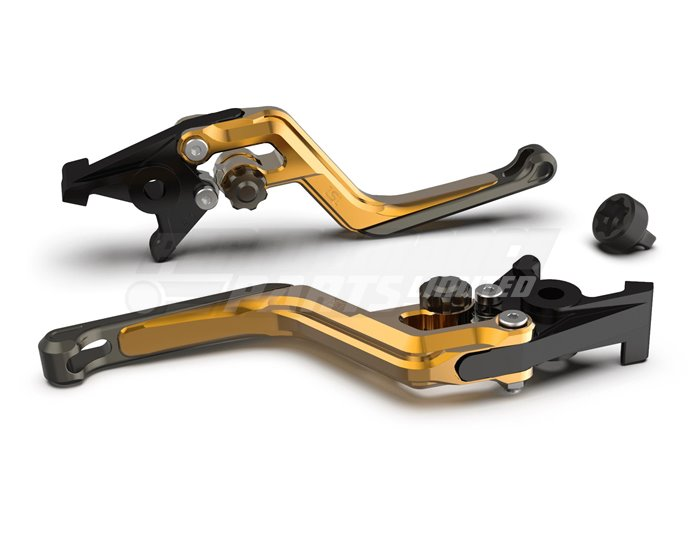 LSL Ergonia Brake Lever, Gold - Anthracite adjuster, Anthracite slider