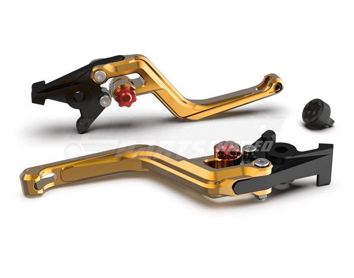 LSL Ergonia Gold Brake Lever - Red adjuster, Gold slider
