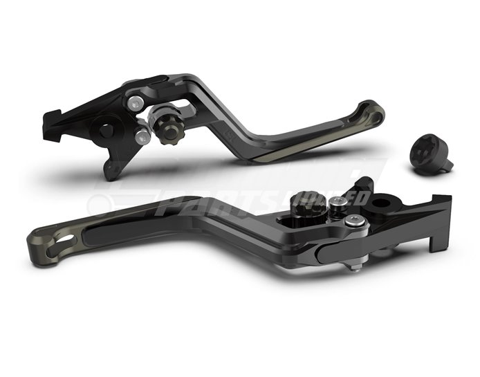 LSL Ergonia Black Brake Lever - Anthracite adjuster, Anthracite slider