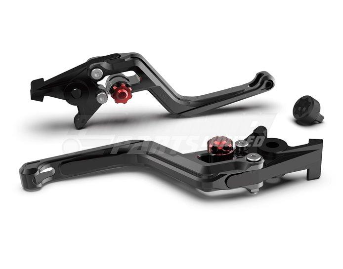 LSL Ergonia Brake Lever, Black - Red adjuster, Black slider