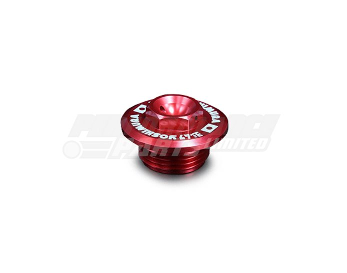 Yoshimura Japan Racing Oil Filler Cap - Anodised Red