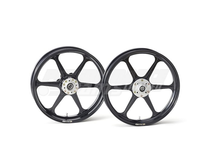 Galespeed Type-N - 6 spoke Forged Alloy Wheel - REAR - Black - 6 Inch Upgrade Rim