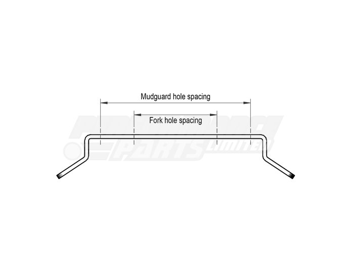 LSL Universal Mudguard bracket, stainless, for mounting of LSL universal mudguards. - for width 145mm