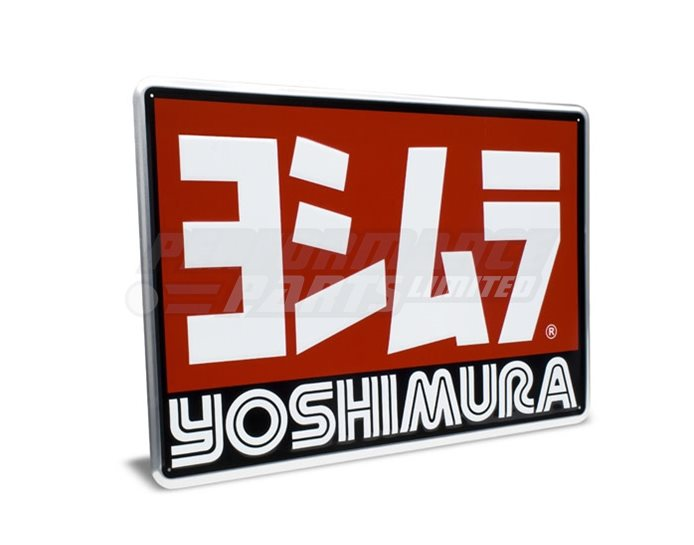 Yoshimura Logo Tin Garage Sign (24inch x 17inch)