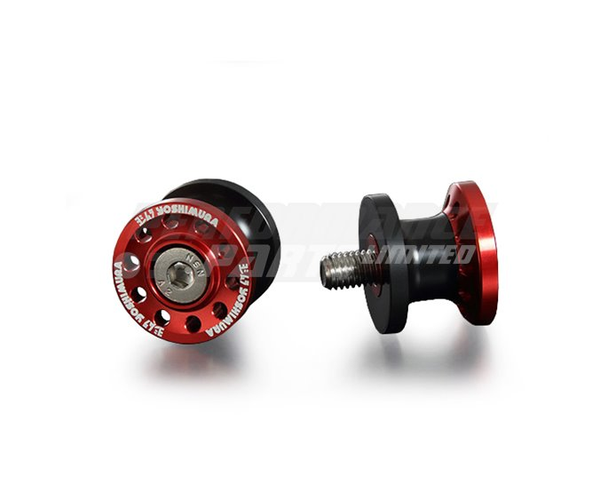 Yoshimura Japan High Line Paddock Stand Bobbins, Red other colours available. - 8mm