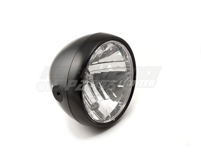 LSL CLUBMAN®, 180mm headlamp, deep bowl housing, plexiglass reflector unit, Black rim